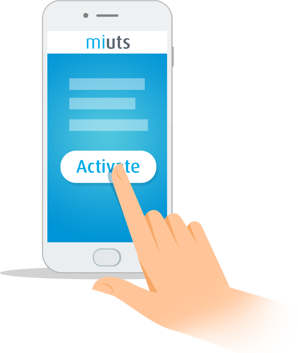 Activate with miUTS app